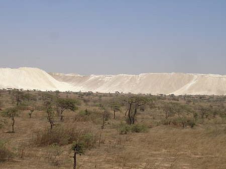 A Rock phosphate surface mine in western Senegal, near Taiba. PhosphateSenegal.jpg