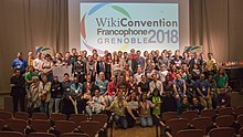 Participation in Wikiconvention francophone 2018, Grenoble - France