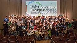 Photo du groupe Wikiconvention francophone 2018.jpg