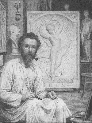 Pier Pander - Self-portrait by Pier Pander (1918)
