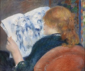 Young Woman Reading an Illustrated Journal