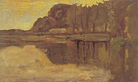 Piet Mondriaan - Isolated tree on the Gein, detail study - A462 - Piet Mondrian, catalogue raisonné.jpg