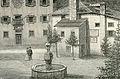 Pieve di Cadore casa ove nacque Tiziano Vecellio xilografia di Barberis.jpg