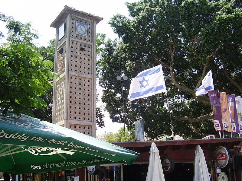 מגדל השעון במרכז אפרידר באשקלון