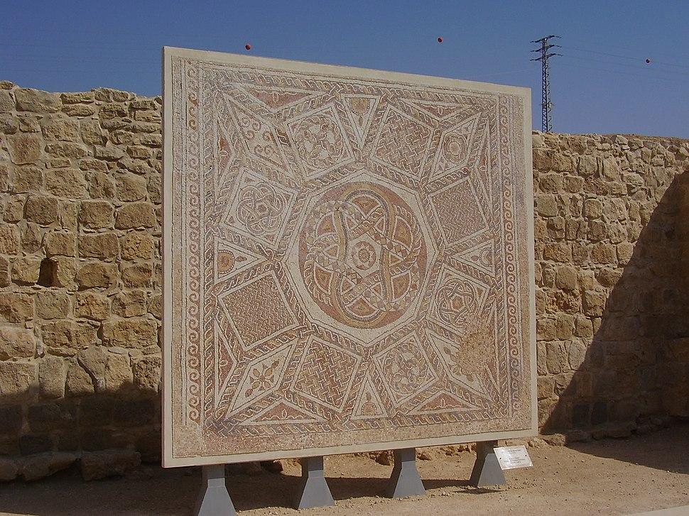 PikiWiki Israel 15000 Deir Qalah monastery mosaic