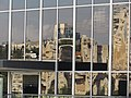 PikiWiki Israel 36907 reflection of Jerusalem through a window of Israel Museum.jpg