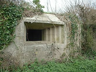 Embrasure - Pillbox stepped embrasure, Taunton Stop Line, England