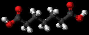 Pimelic acid - Image: Pimelic acid 3D ball