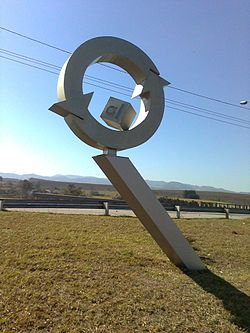 Symbol of aluminum recycling in Pindamonhangaba, which is the largest center for recycling aluminum cans in Latin America.[1]
