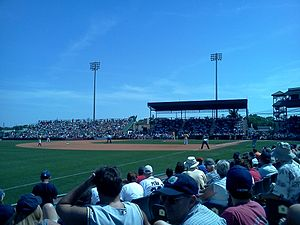 LECOM Park - The infield during spring training in 2011.