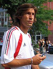 Pirlo in maglia rossonera nel 2005.