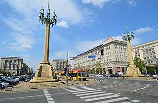 Major square in Warsaw