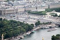 Place de la Concorde from the Eiffel Tower, Paris April 2011.jpg