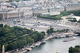 Place de la Concorde - The Place de la Concorde as seen from the Eiffel Tower