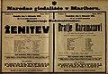 Plakat za predstavi Ženitev in Bratje Karamazovi v Narodnem gledališču v Mariboru 1. februarja 1925.jpg