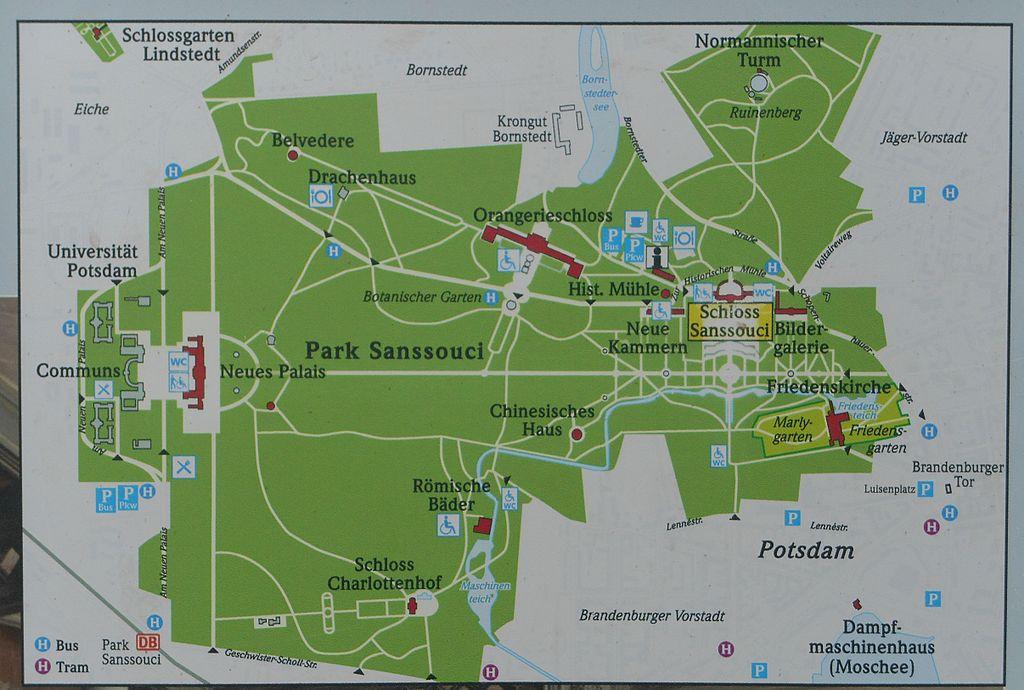 Plan Park Sanssouci Karte