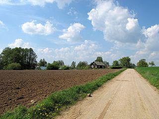 Płonka-Kozły Village in Podlaskie Voivodeship, Poland