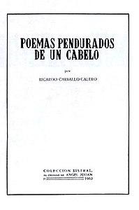 Poemas pendurados de un cabelo por Ricardo Carballo Calero, Colección Xistral, 1952
