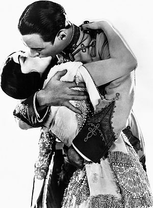 Pola Negri - Pola Negri and Rod La Rocque in a publicity portrait for Forbidden Paradise (1924)