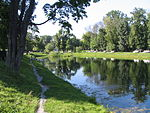 Pond in Ekaterininsky Park, Moscow, Russia.jpg