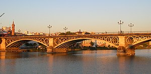 Triana, Seville - The iconic Puente de Triana (Triana Bridge)