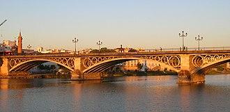 Triana, Seville - The iconic Puente de Triana (Triana Bridge)