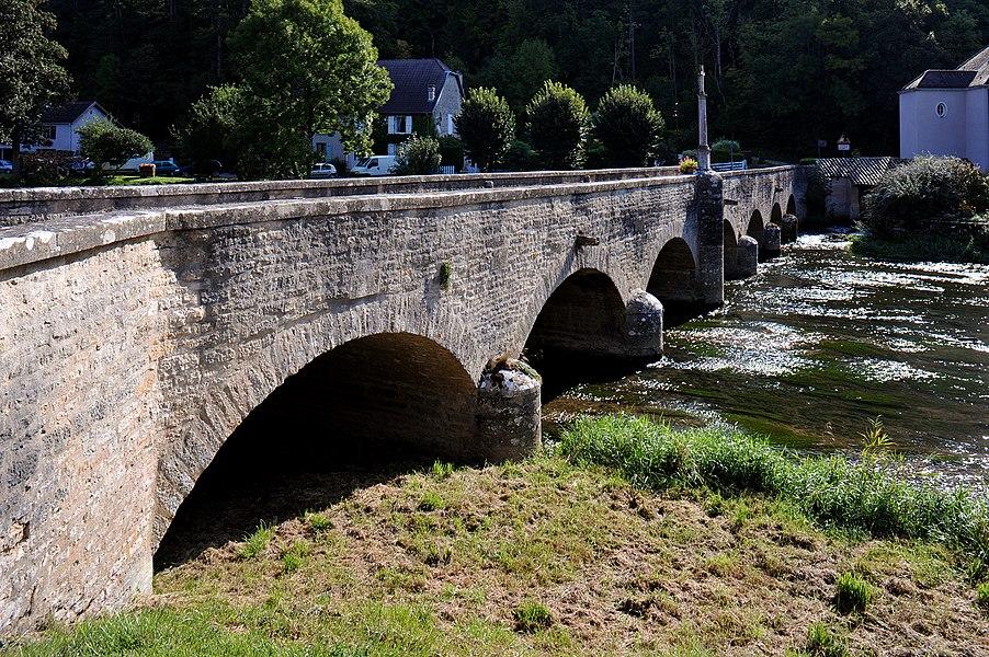 Pont de l'ancienne laiterie in Condes; Haute-Marne, France.