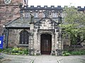 Porch of St Mary's The parish Church of Cheadle. - geograph.org.uk - 403177.jpg