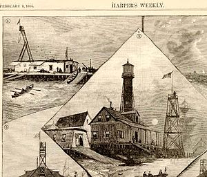 Port Eads, Louisiana - Port Eads drawing from Feb. 9, 1884 Harper's Weekly.