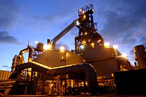 Economy of Wales - Port Talbot Steelworks, one of the last remaining heavy industrial plants in south Wales