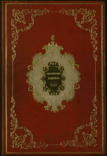 Original front of the 1857 Constitution