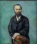 Portrait de l'artiste, d'après une photographie, par Paul Cézanne, Carnegie Museum of Art.jpg
