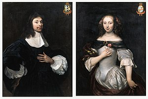 Joan Huydecoper II - Portrait of Joan Huydecoper and his wife Sophia Huydecoper neé Coymans (1636-1714), attributed to Jacob van Loo.