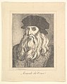 Portrait of Leonardo da Vinci (from Characaturas by Leonardo da Vinci, from Drawings by Wincelslaus Hollar, out of the Portland Museum) MET DP824104.jpg