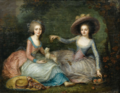 Portrait of Two Ladies, Traditionally called Marie-Antoinette and Madame de Lamballe.png