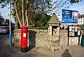 Post box and Fountain, end of Waterloo Rd - geograph.org.uk - 1530534.jpg