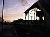 Posta de sol a Estació de Belpuig.JPG
