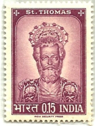 Thomas the Apostle - Postal Department of India brought out a stamp commemorating his mission to the country