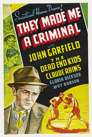 They Made Me a Criminal - Theatrical poster