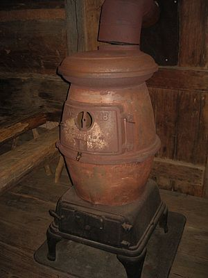 Wood-burning stove - Potbelly stove at the Museum of Appalachia