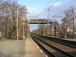 Grade separation - The concept of grade separation includes all transport modes, such as a simple pedestrian bridge over rail tracks.