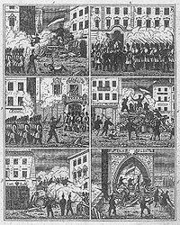 Barricadas de Praga, junio de 1848.