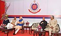 "Pranab Mukherjee, the Prime Minister, Shri Narendra Modi, the Union Home Minister, Shri Rajnath Singh and the Chief Minister of Delhi, Shri Arvind Kejriwal at the ""At Home"" reception hosted by the Delhi Police Commissioner.jpg"