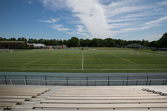 New York Institute of Technology - Old Westbury campus President's Stadium, home of the men's and women's soccer teams and the men's lacrosse team.