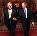 President Bill Clinton and President-Elect George W. Bush walk through the White House (1).jpg