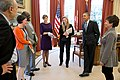 President Obama receives an update on Affordable Care Act, April 2014..jpg