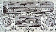 Previnaire Katoen fabriek garenkokerskade 19e eeuw