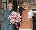 Prime Minister Modi meets Vice President Shri Hamid Ansari on 3 June 2014.jpg