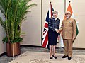 Prime Minister Narendra Modi meeting British PM Theresa May at the 2016 G20 Summit.jpg