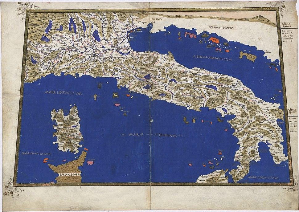 Ptolemy Cosmographia 1467 - Italy a